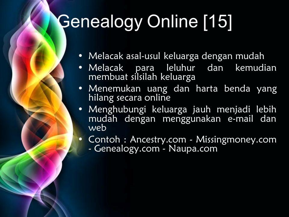 Genealogy Online [15] Melacak asal-usul keluarga dengan mudah